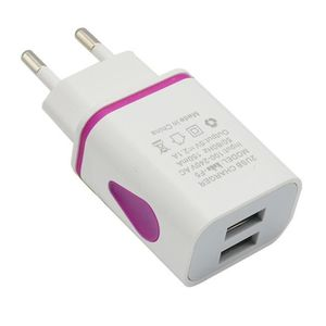 CHARGEUR - ADAPTATEUR  USB LED 2 Port mur Accueil Voyage Adaptateur Charg