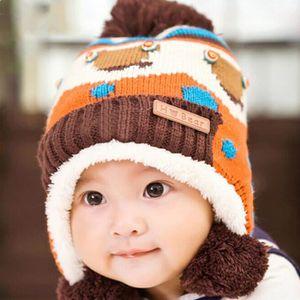 BONNET - CAGOULE Bonnet Bebe d'hiver Chaud Cache-oreilles pour Enfa