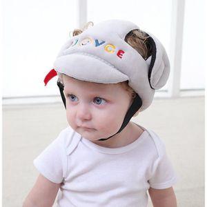 CASQUE ENFANT Casque anti-chute pour bébés Gris