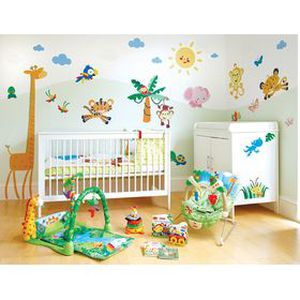 Pack fisher price de stickers jungle achat vente stickers cdiscount for Chambre jungle cdiscount