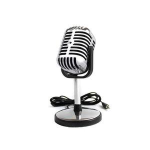 MICROPHONE Micro ou microphone rétro vintage chromé pour Pc o