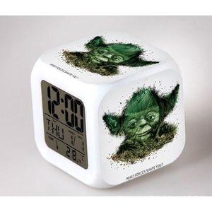 RÉVEIL SANS RADIO BRO Star Wars Réveil Horloge Cube LED 7 couleurs