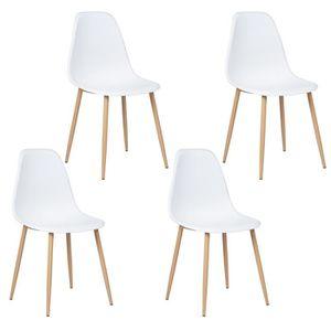 CHAISE CHARLTON Lot de 4 chaises avec pieds en métal - St