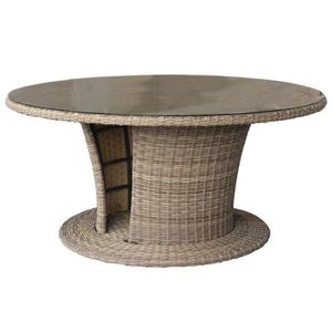 SALON DE JARDIN  Table de jardin résine tressée Mooréa - 8 Personne