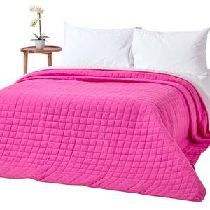 JETÉE DE LIT - BOUTIS Couvre-lit bicolore en pur coton 400 g-m² coloris