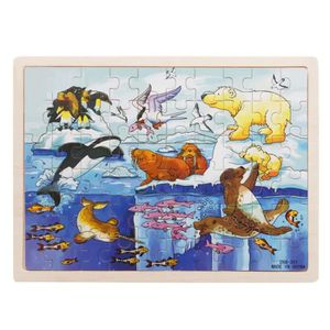 PUZZLE 60-Piece Polar Animals Puzzle - Jeu éducatif en bo