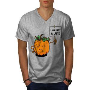 T-SHIRT Citrouille Latté ne pas Men  T-shirt à sonnerie |
