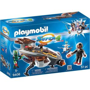 UNIVERS MINIATURE PLAYMOBIL 9408 - Super 4 - Navette Spatiale Aliens