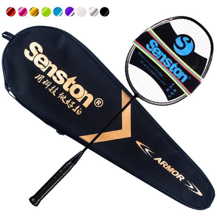 Senston N80 Graphite Unique de Haute qualité Raquette de Badminton, en Fibre de Carbone Raquette de Badminton, y Compris Badminton S