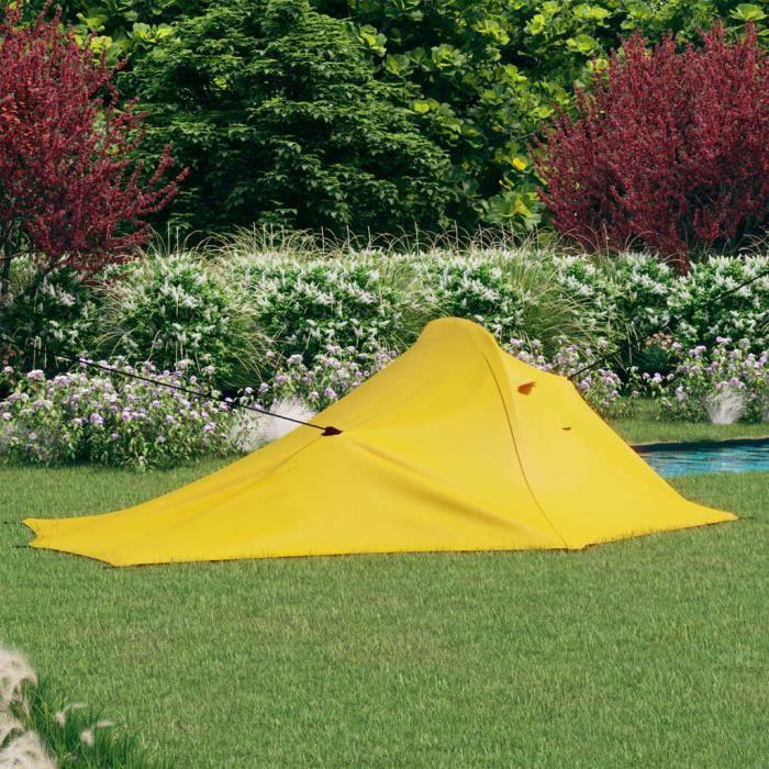 New-2350Tente de camping familiale 3 - 6 personnes Professionnel - Tente pour Randonnée Camping Extérieur 317x240x100 cm Jaune