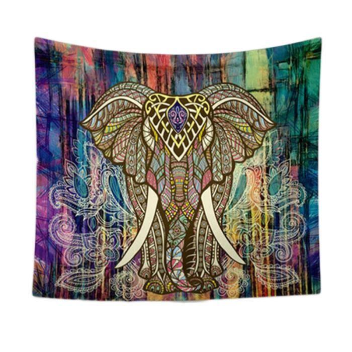 150 x 130 CM Mandala Indien Tapisserie Impression Éléphant Serviettes De Plage Bikini SERVIETTE DE PLAGE - DRAP DE PLAGE - FOUTA