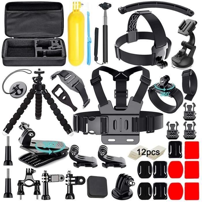 Avaspot 50-en-1 Kit d'Accessoires pour caméra d'action pour Gopro Hero 2018 Hero 7 6 5 4 3 Hero 5 Noir, Session Héros Session Campus