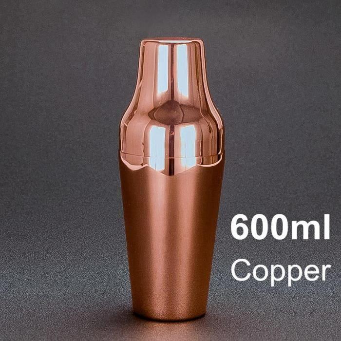 600ml acier inoxydable français Cocktail Shaker classique et élégant barre Cocktail Shaker barman outil~copper plated*DE12064