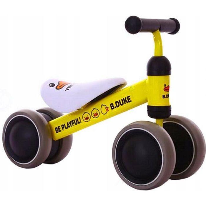 OKIE - Draisienne bébé à partir 18 mois - Ultra lègere 2kg - Vélo sans pédales - Ergonomique Confortable selle/roues mousse - Jaune