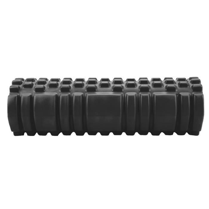 rouleau de yoga de massage Mini rouleau de yoga creux Exercice Fitness Roller Physio Workout Yoga Massage Colonne (Noir)
