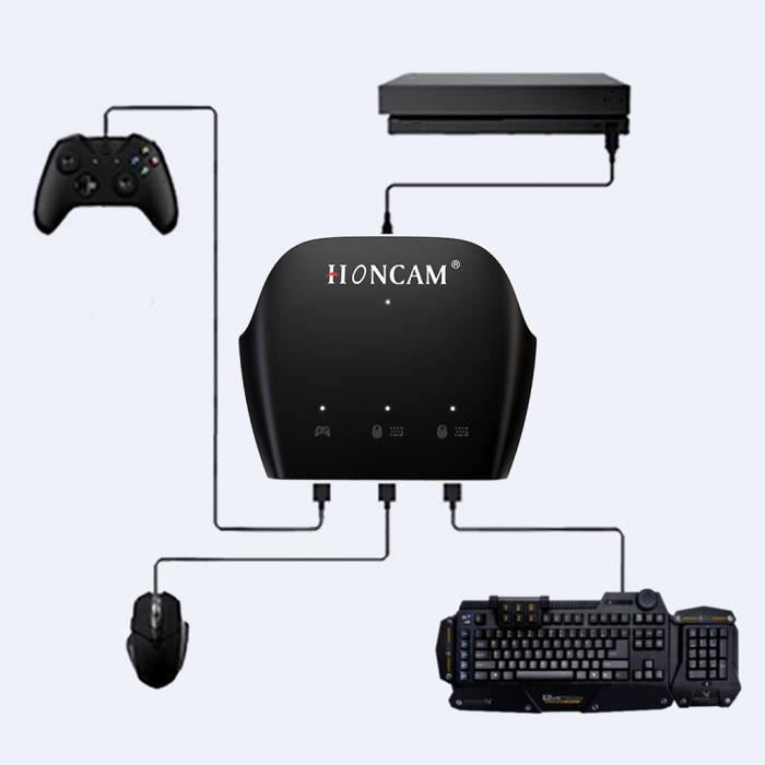 Adaptateur type-c poignée contrôleur clavier souris convertisseur pour PC pour NS Switch PS4 @Mishuowoti 229
