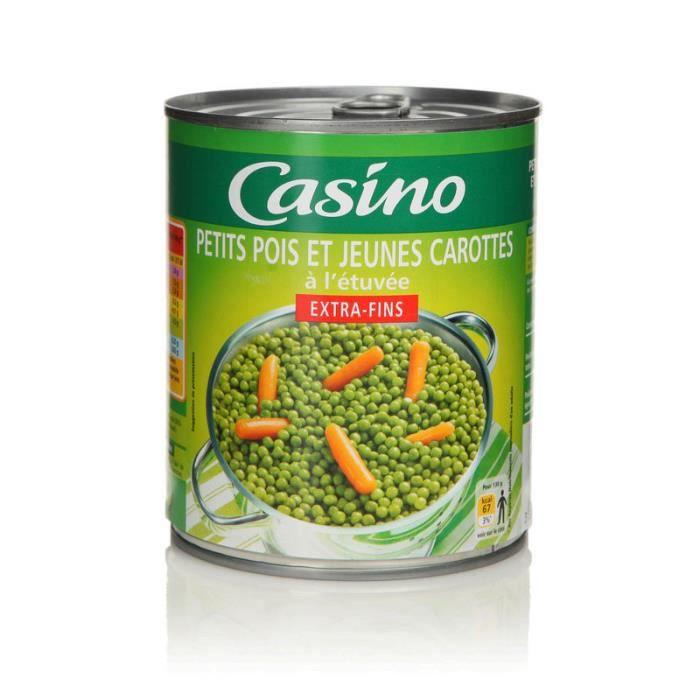 CASINO - Petits Pois Extra-Fins et Jeunes Carottes - 530G