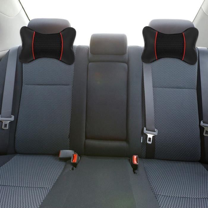 2pcs Véhicule Polyester Col de voiture Confort Coussin Tête Support appui-tete confort conducteur passager