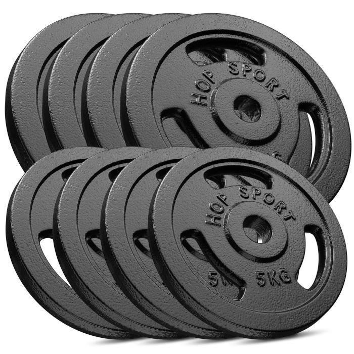 HS Hop-sport Disques en Fonte 60kg (4x10kg, 4x5kg) SET AA