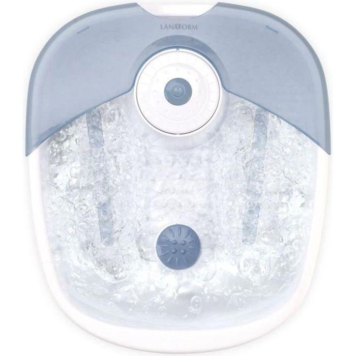 LANAFORM FOOT SPA - Bain à bulles pour pieds - Massage par vibrations et bouillonnant