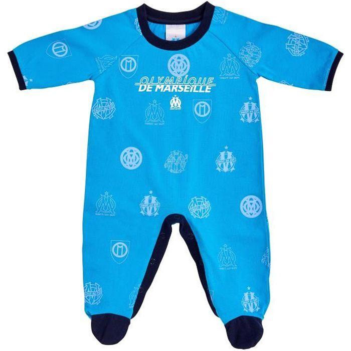 Grenouillère bébé garçon OM - Collection officielle Olympique de Marseille