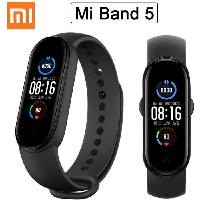 Xiaomi Mi Band 5 AMOLED Smart Wristband Watch Cardiofréquencemètre 50M étanche