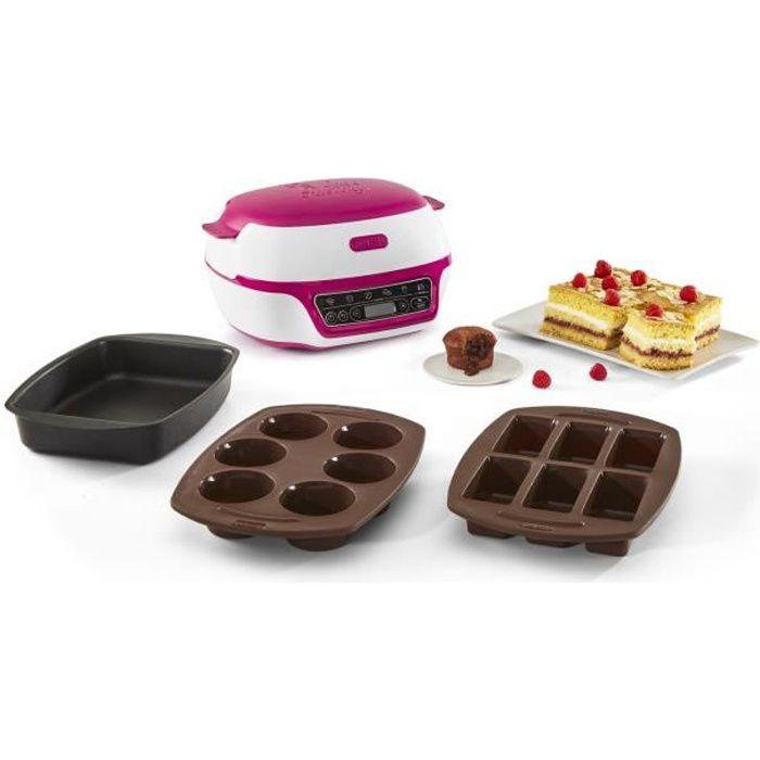 TEFAL KD801812 Cake Factory, Machine à gâteaux intelligente, Appareil de cuisson convivial, Moules muffins, mini-cakes, grand gâteau