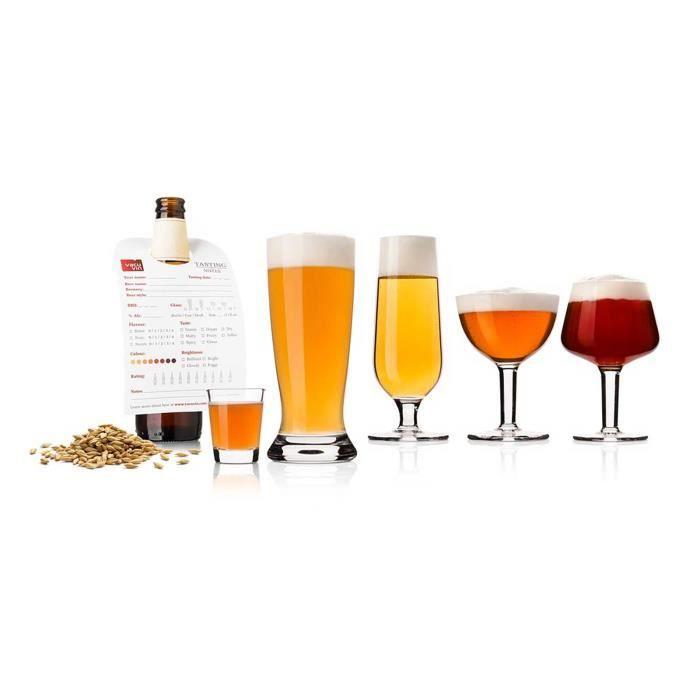 Vacu Vin Verre à dégustation de bière avec 2 x 5 verres