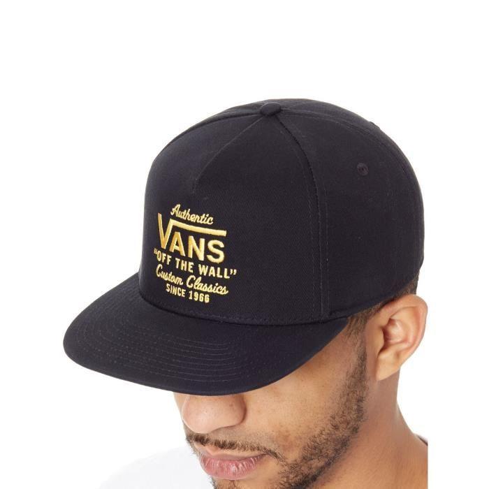 Casquette Snapback Vans Wabash Noir-Zinnia