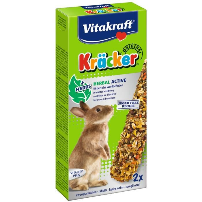 VITAKRAFT Kräcker Herbal active P/2 - Pour lapin nain