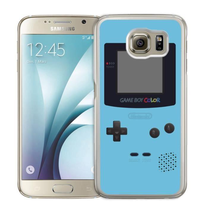 Coque Samsung Galaxy S6 Edge : Game Boy Color Turq