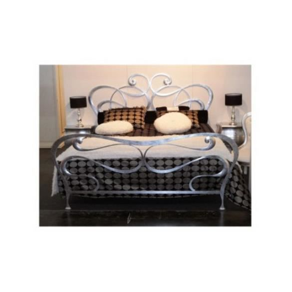 lit en fer forg caroline achat vente lit complet lit. Black Bedroom Furniture Sets. Home Design Ideas