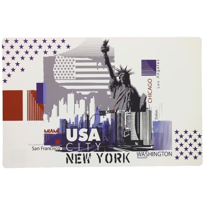 set de table design new york city usa drapeau a achat. Black Bedroom Furniture Sets. Home Design Ideas