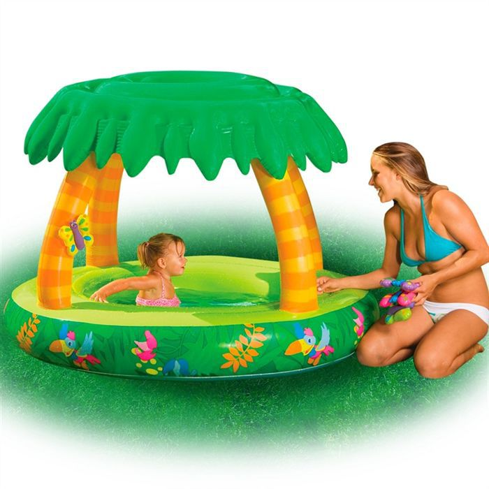 Piscine b b jungle achat vente pataugeoire les for Video bebe a la piscine