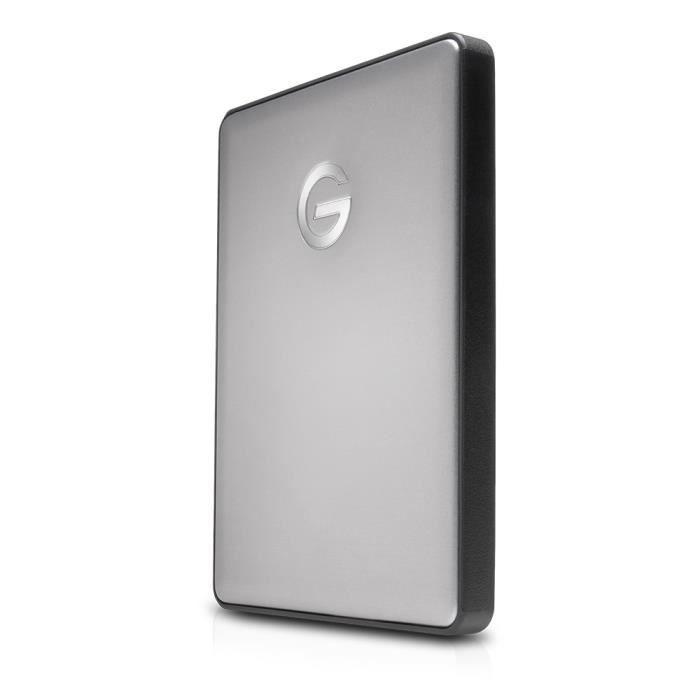 DISQUE DUR EXTERNE G-Technology G-DRIVE Mobile USB-C, 2000 Go, USB Ty