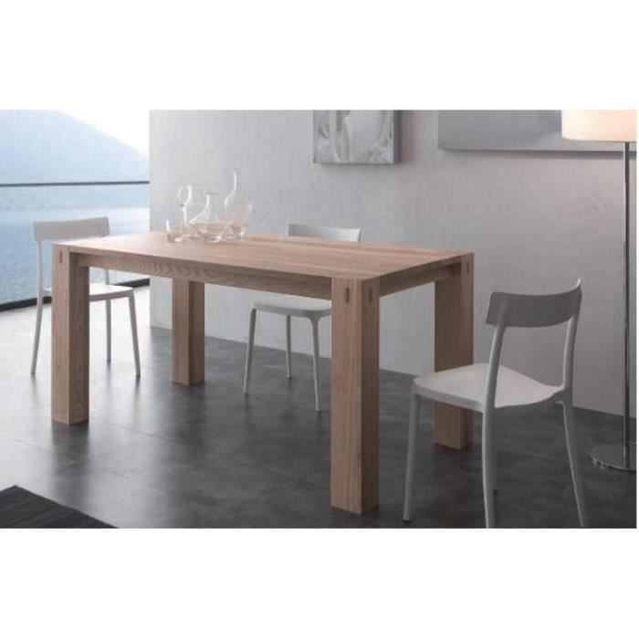 table repas extensible factory en bois massif achat. Black Bedroom Furniture Sets. Home Design Ideas