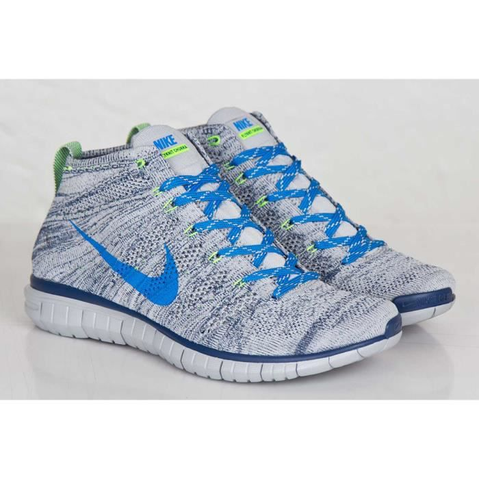 Nike Free Flyknit Chukka grisbleu Achat Vente basket Cdiscount