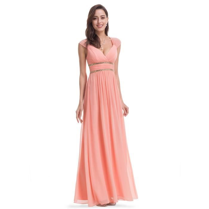 Robe de cocktail orange pas cher