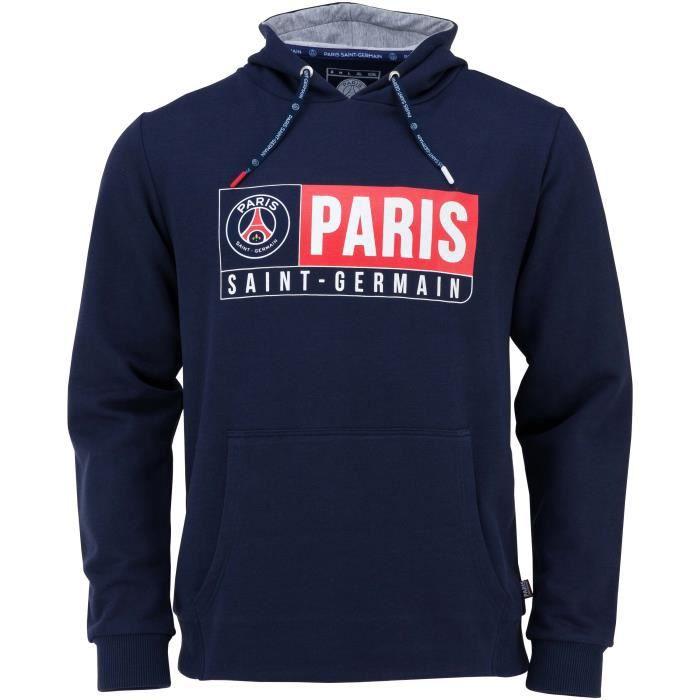 Collection Officielle Taille Adulte Homme PARIS SAINT GERMAIN Sweat Capuche PSG