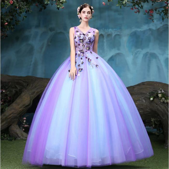 Fil de couleur Princesse mauve Nouvelle robe