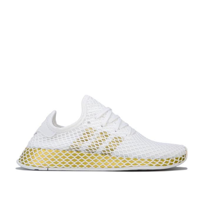 adidas Originals Baskets Deerupt Runner Blanc Doré Femme