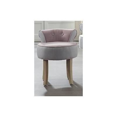 fauteuil crapaud lin gris rose achat vente fauteuil cdiscount. Black Bedroom Furniture Sets. Home Design Ideas