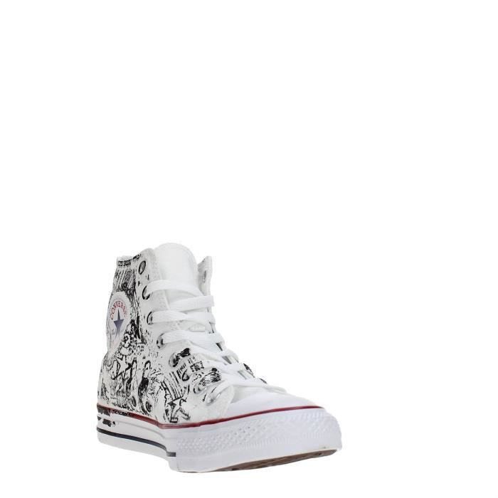 Converse Sneakers Unisexe OPTICAL WHITE/RED/BLACK, 38