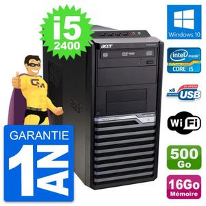 ORDI BUREAU RECONDITIONNÉ PC Tour Acer Veriton M2610G Intel i5-2400 RAM 16Go