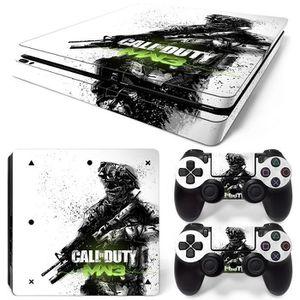 STICKER - SKIN CONSOLE Housse d'autocollant pour PS4 Slim Playstation 4 C