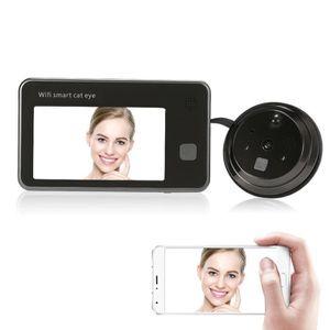 JUDAS - ŒIL DE PORTE 720P WiFi Interphone visuel de porte 4.3