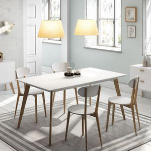 TABLE A MANGER COMPLET Table design Compas - Blanc