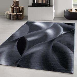 TAPIS Tapis Design Moderne Shaggy Vagues Abstraites Modè