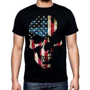 T-SHIRT americana crâne t - shirt biker tee ~ ~ merica usa
