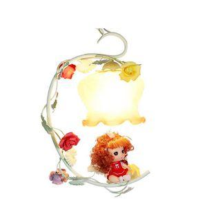 LUSTRE ET SUSPENSION Suspension Fleur et Fille Mignon Abat-jour en Verr